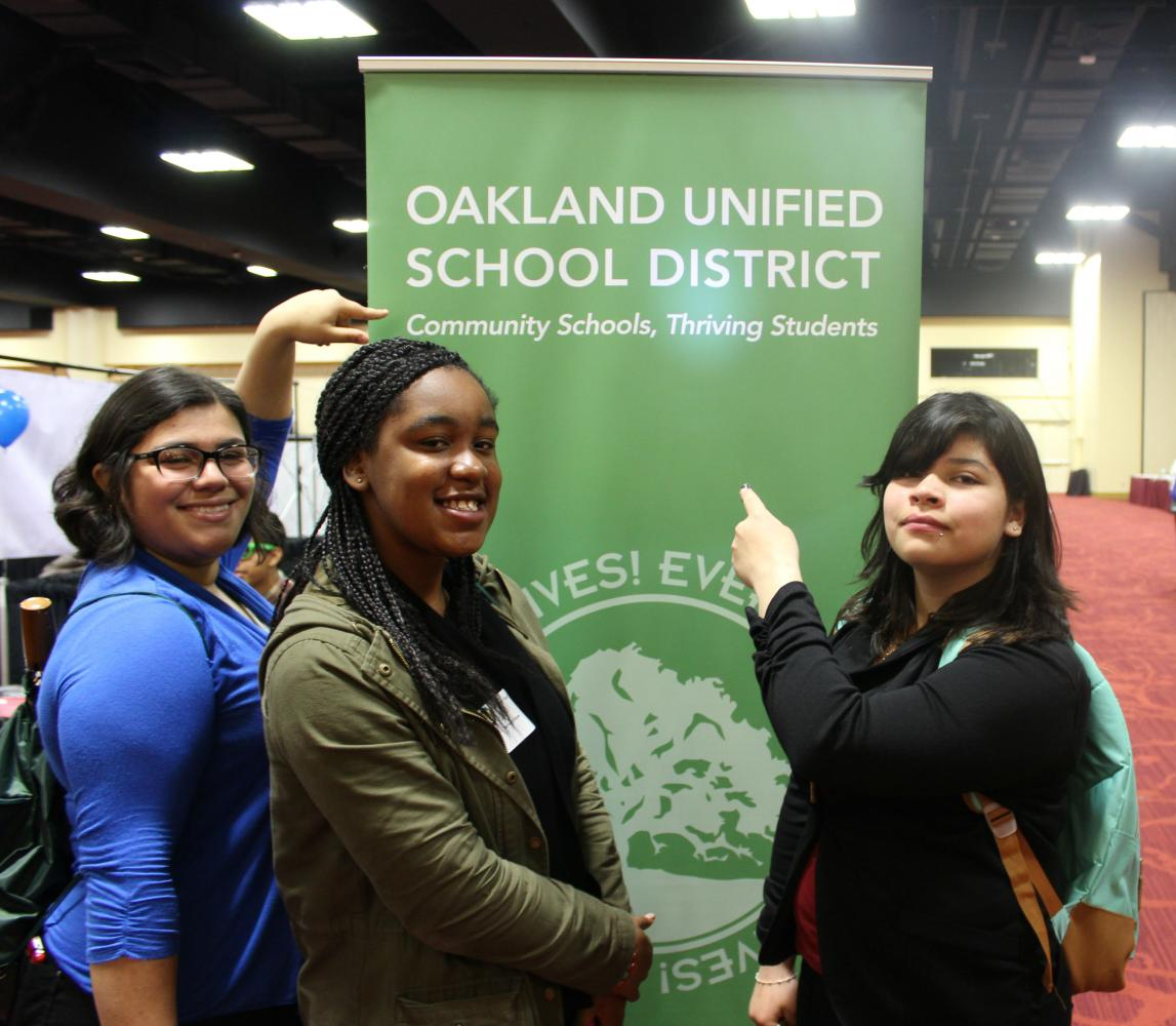 Students at the 2017 OUSD Career Expo.