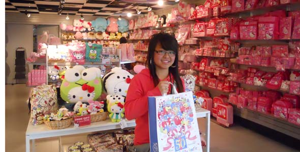For Hello Kitty lovers, this store is heaven