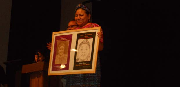 Rigoberta+Menchu%2C+Nobel+Prize+winner%2C+speaks+at+Homies+event